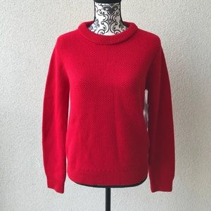 😍 NWT Lord&taylor red sweater Merino wool M